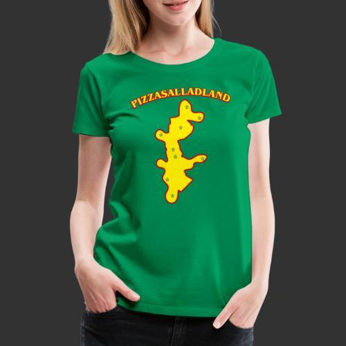 Pizzasalladland - Premium-T-shirt dam