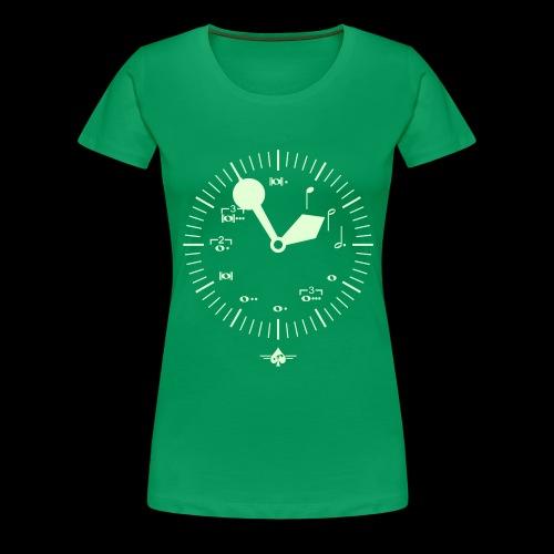 Noteclock - Frauen Premium T-Shirt