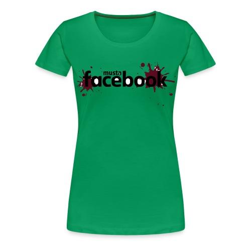 Musta Facebook -t-paita - Naisten premium t-paita