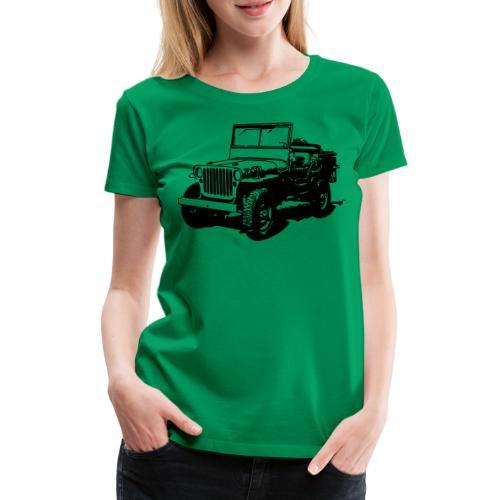 AVM Jeep 4x4 - VECTOR - MULTICOLOR DESIGN - Vrouwen Premium T-shirt