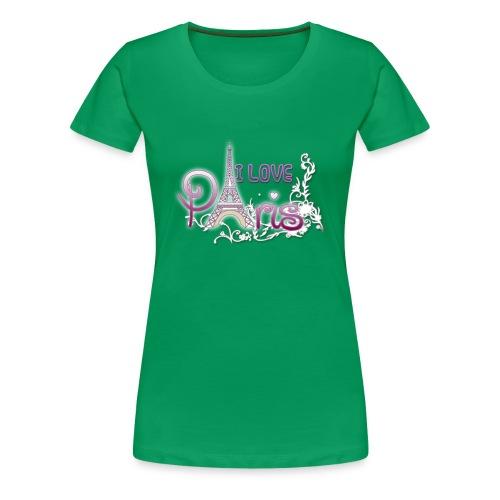 I LOVE PARIS - Camiseta premium mujer