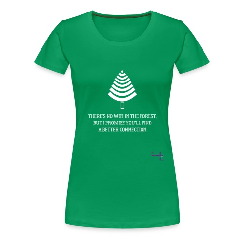 signal t hvid - Dame premium T-shirt