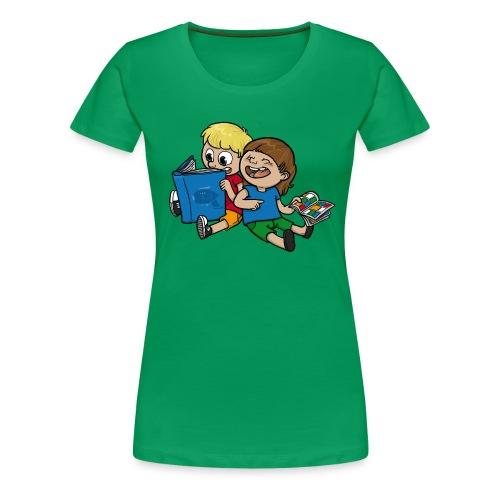 Kinder, lest mehr Bücher und Comics! - Frauen Premium T-Shirt
