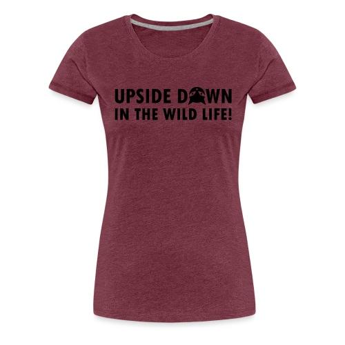 Upside Down Cat - Frauen Premium T-Shirt