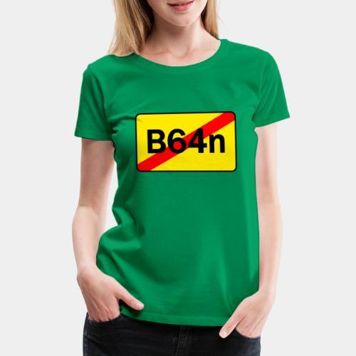 B64n beidseitig Bedruckt - Frauen Premium T-Shirt