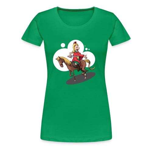 Sankt Martin auf dem Pferd - Frauen Premium T-Shirt