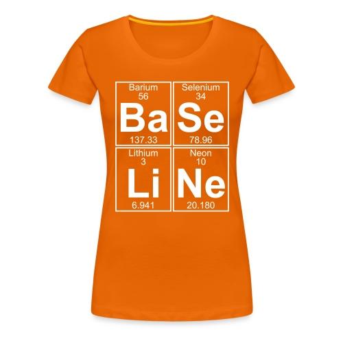 Ba-Se-Li-Ne (baseline) - Full - Women's Premium T-Shirt