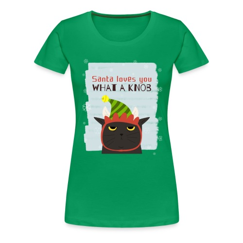 Funny Christmas Grumpy Cat Design. New Xmas Gift - Women's Premium T-Shirt
