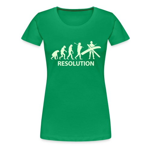 Resolution Evolution Army - Women's Premium T-Shirt