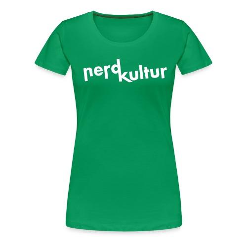 nerdkultur logo - Frauen Premium T-Shirt