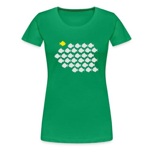 Verandervis - durf anders te zijn - Vrouwen Premium T-shirt