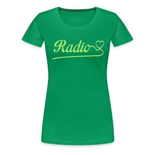 Radio love - Vrouwen Premium T-shirt