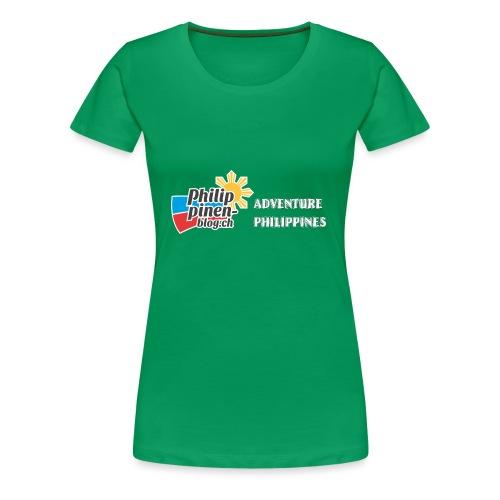 Philippinen-Blog Logo english schwarz/weiss - Frauen Premium T-Shirt