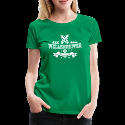 Geweihbaer Wellenreiter - Frauen Premium T-Shirt