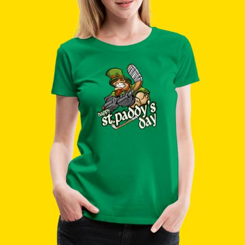 St Paddy´s Shirt Eishockey T-Shirt - Frauen Premium T-Shirt