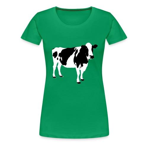 COW PIXEL - Dame premium T-shirt