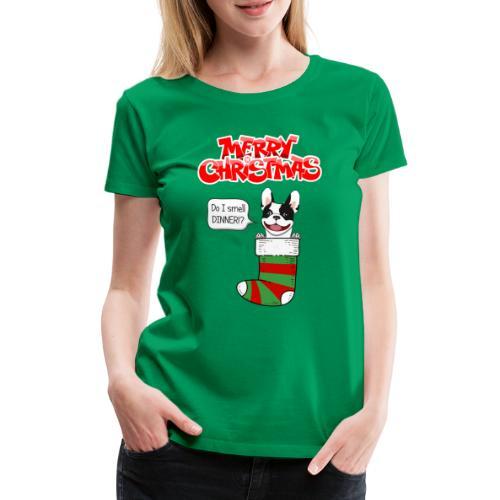 Christmas Dinner Bulldog - Vrouwen Premium T-shirt