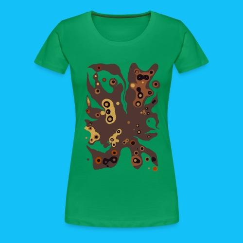 Kaffeefleck und Tiere - Frauen Premium T-Shirt