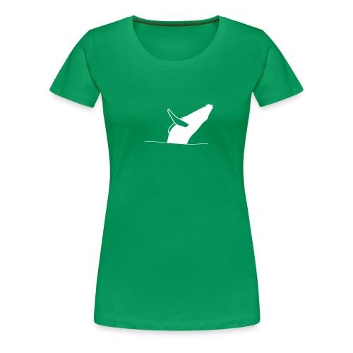 Jumping whale - white - Frauen Premium T-Shirt