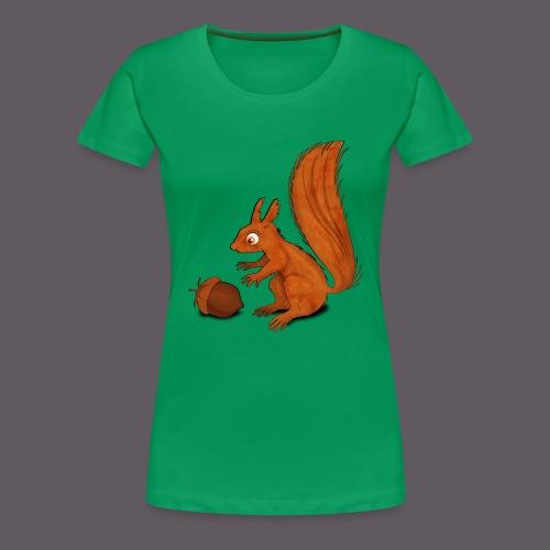Squirrel with Nut - Frauen Premium T-Shirt