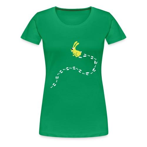 Hase im Schnee - Frauen Premium T-Shirt