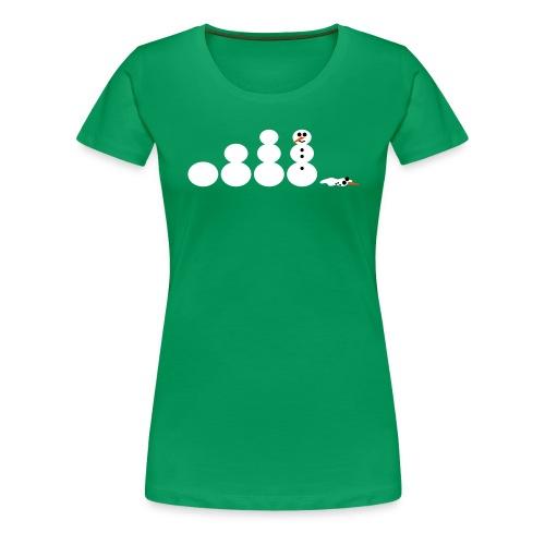 Schneemann Evolution - Frauen Premium T-Shirt