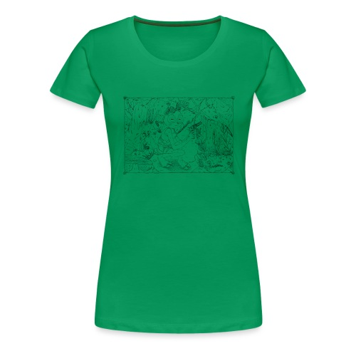goat girl jungle explorer - Women's Premium T-Shirt