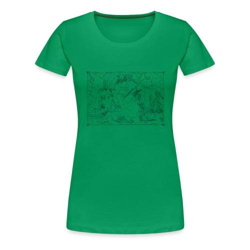 goat girl jungle explorer - Women's Premium T-Shirt