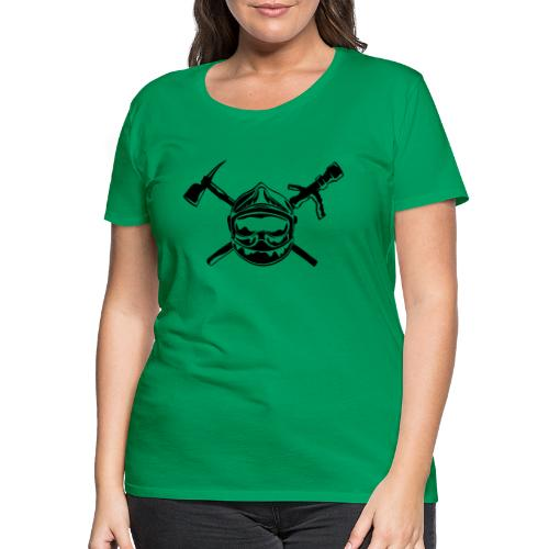 casque_pompier_hache et lance - T-shirt Premium Femme