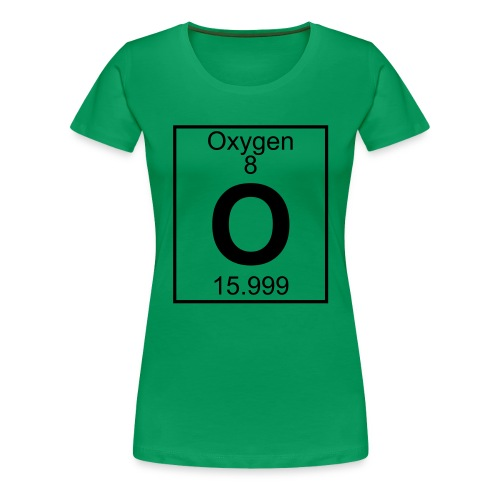 Oxygen (O) (element 8) - Women's Premium T-Shirt