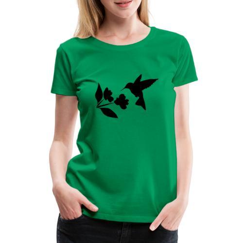 kolibrie met bloem - Vrouwen Premium T-shirt