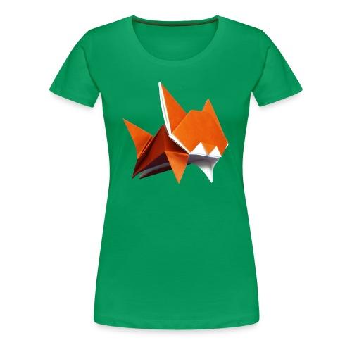 Jumping Cat Origami - Cat - Gato - Katze - Gatto - Women's Premium T-Shirt