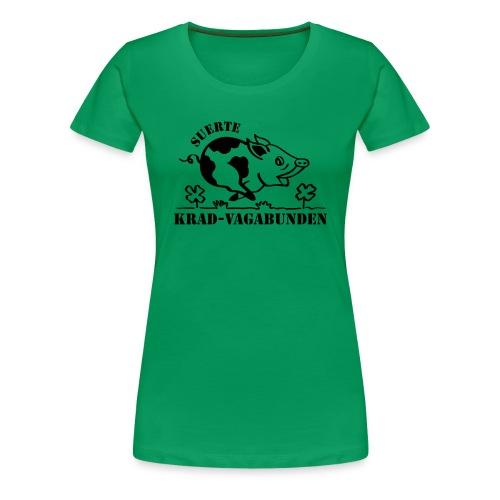 Krad-Vagabunden Glücksschwein V2 - Women's Premium T-Shirt