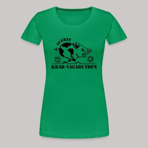 Krad-Vagabunden Glücksschwein V2 - Frauen Premium T-Shirt
