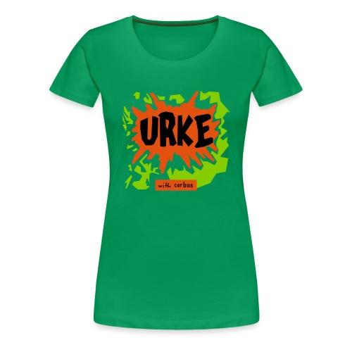 urke_tofarger - Premium T-skjorte for kvinner