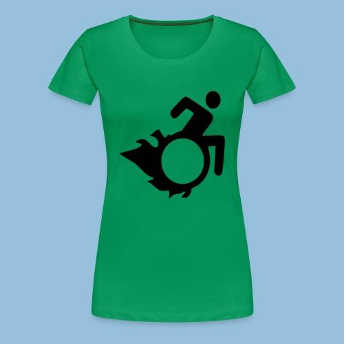 Roller met vlammen 004 - Vrouwen Premium T-shirt