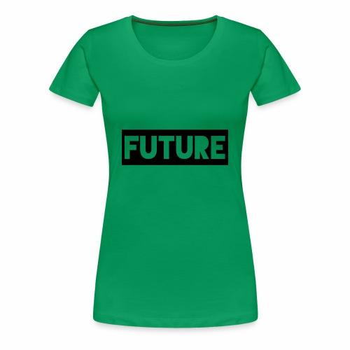 Future Clothing - Text Rectangle (Black) - Women's Premium T-Shirt