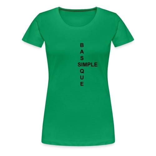 simple2 - T-shirt Premium Femme