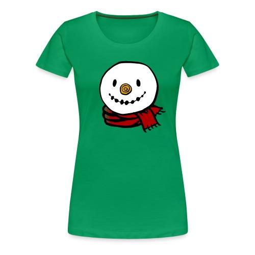 Fröhlicher Schneemann mit rotem Schal Weihnachten - Frauen Premium T-Shirt