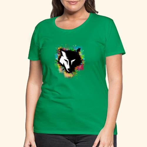 Loup coloré - T-shirt Premium Femme