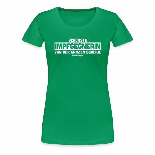 Impfgegnerin - Frauen Premium T-Shirt