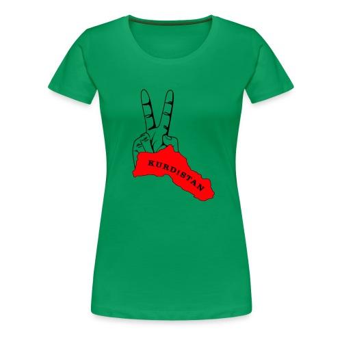 Peace-Kurdistan - Frauen Premium T-Shirt