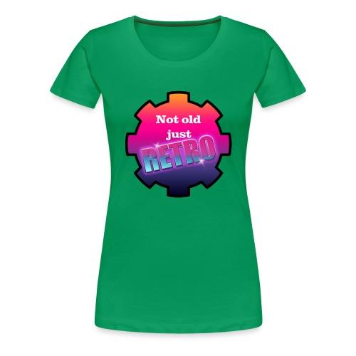 not old just retro - Women's Premium T-Shirt
