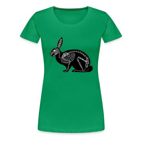 Kanin skelet - Dame premium T-shirt