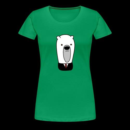 officel_polarbear_shop_logo - Dame premium T-shirt