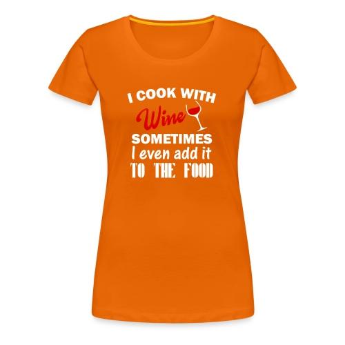 i cook - Premium T-skjorte for kvinner
