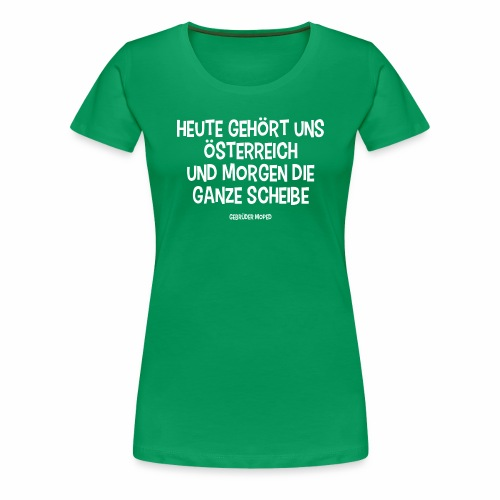 Scheibe Österreich - Frauen Premium T-Shirt