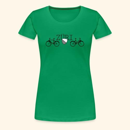 Velostadt Zürich Damen- und Herrenvelo - Frauen Premium T-Shirt