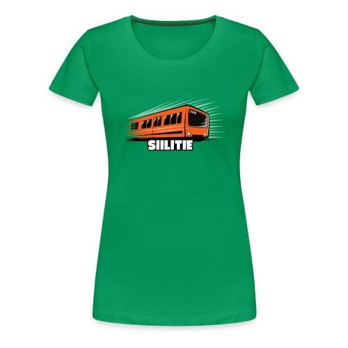 METRO SIILITIE, HELSINKI, Tekstiilit ja lahjat - Naisten premium t-paita