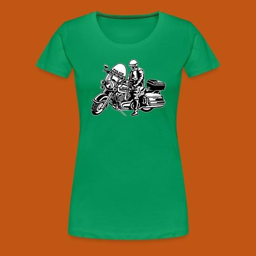 Motorradpolizei / Motorcycle Police 1_schwarz weiß - Frauen Premium T-Shirt
